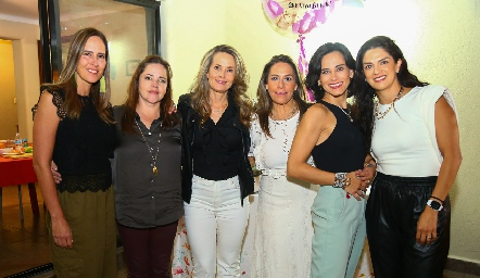Adriana Pedroza, Gaby Carreón, Karina Vita, Michelle Zarur, Anilú Enríquez y Daniela Gutiérrez .