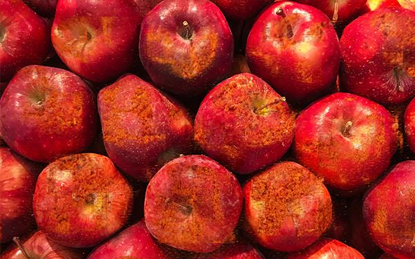 Deliciosas manzanas con chamoy