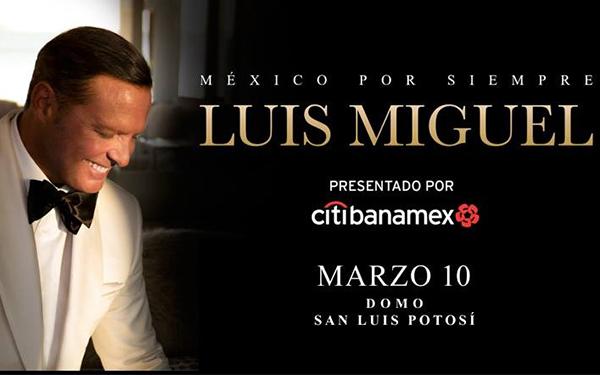Luis Miguel llega a SLP con su gira México por Siempre