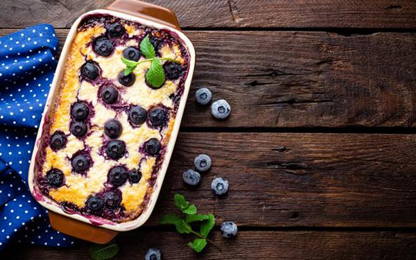 Budín nutritivo de limón, arándanos y yogur: una combinación irresistible de sabores