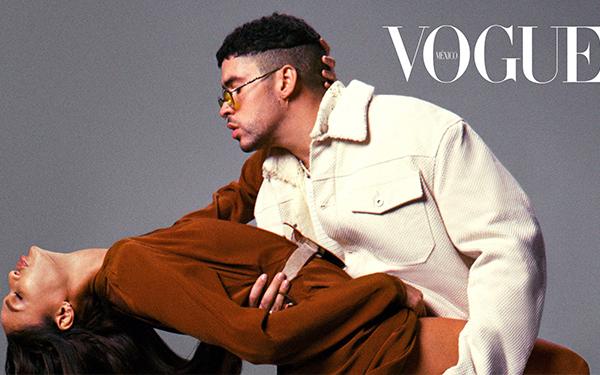 Bad Bunny y Joan Smalls en la portada de Vogue